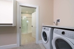 laundry room off of bathroom