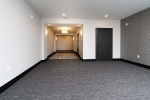 Carpeted area in hallway