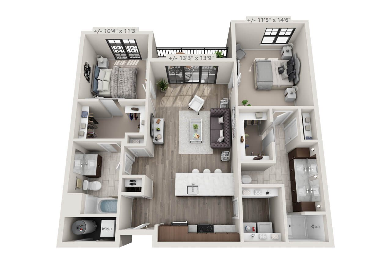 Troy two bedroom luxury apartment